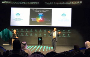 "Presenting ""The Future of Leadership"" at World Government Summit in Dubai"