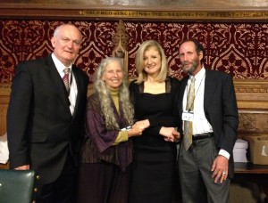 With Arriana Huffington and MP Chris Ruane at British Parliament's Mindfulness Initiative