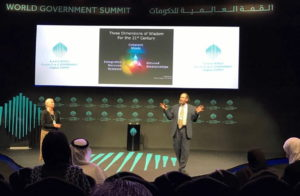 Leveys' in Dubai Speaking on Wisdom at Work for the World Government Summit